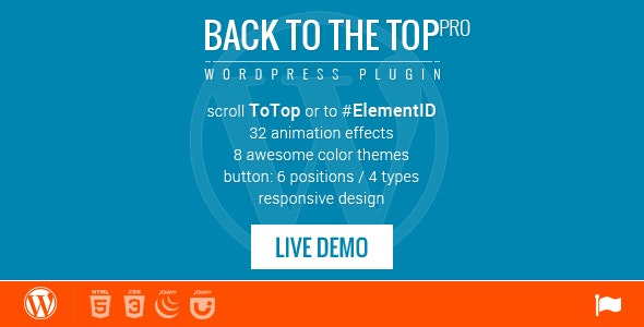 Back to Top / ID - WordPress Plugin - 32 animations - CodeCanyon Item for Sale