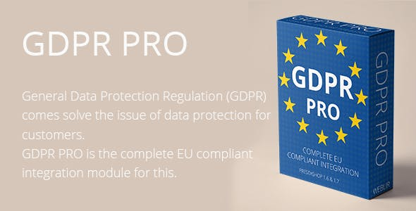 GDPR PRO - Complete EU compliant integration