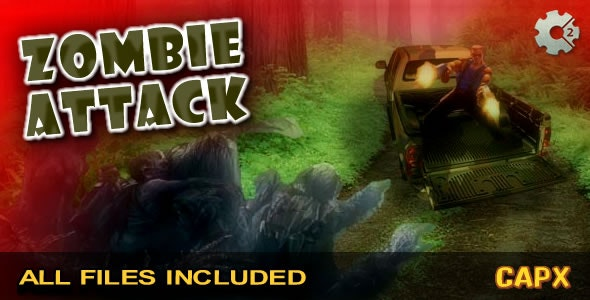 Zombie Attack - (CAPX & HTML) Game!