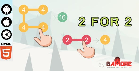 2 For 2 HTML5 Puzzle Game - Construct 2 & 3 CAPX ( Construct 2 & 3)