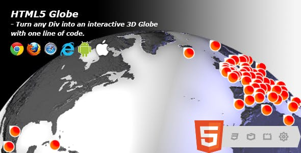 HTML5 Globe - Interactive 3D Earth