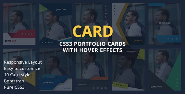 CARD - CSS3 Portfolio Cards with Hover Effects