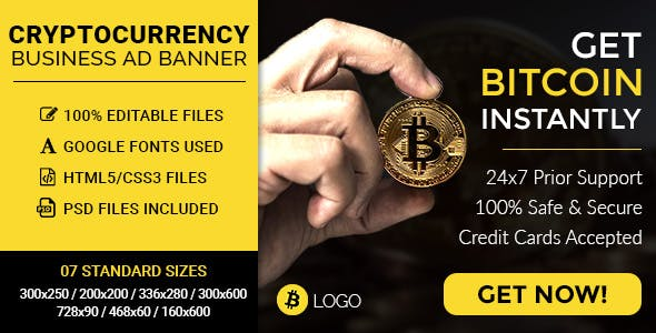 CryptoCurrency/Bitcoin Business HTML5 Ad Banners