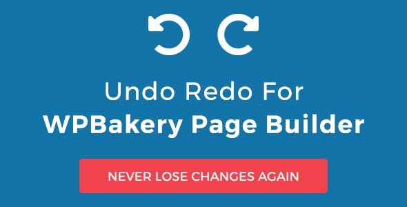 Undo Redo for WPBakery Page Builder - CodeCanyon Item for Sale