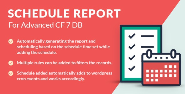 Schedule Report For Advanced CF7 DB - CodeCanyon Item for Sale