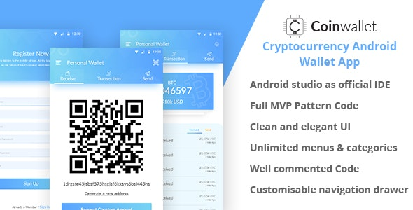 CoinWallet - Android Cryptocurrency Wallet Template - CodeCanyon Item for Sale