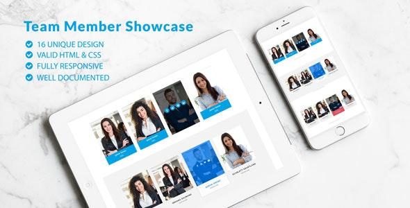 Team Showcase - Pure CSS Team Member Showcase - CodeCanyon Item for Sale