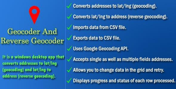Geocoder and Reverse Geocoder