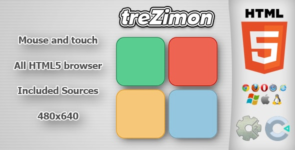 treZimon - HTML5 Memory Game - CodeCanyon Item for Sale