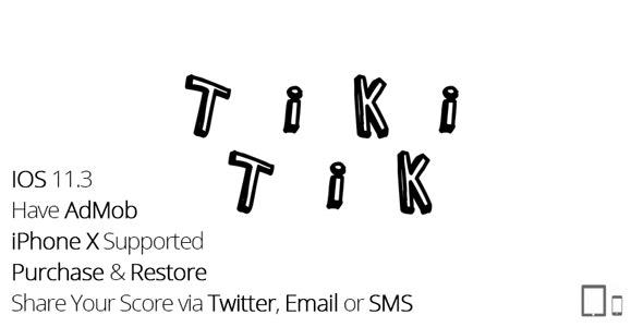 Tiki Tik - iPhone & iPad Game With AdMob - CodeCanyon Item for Sale
