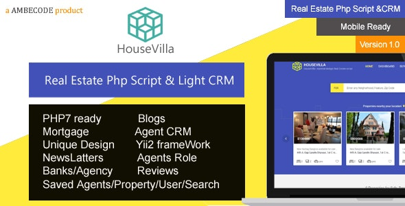 HouseVilla | Real Estate php script and CRM - CodeCanyon Item for Sale