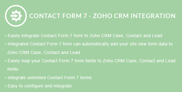 Contact Form 7 - ZOHO CRM Integration