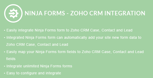 Ninja Forms - ZOHO CRM Integration - CodeCanyon Item for Sale