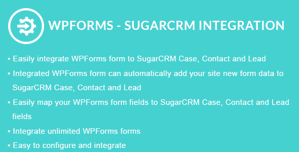 WPForms - SugarCRM Integration
