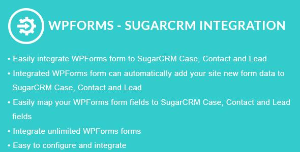 WPForms - SugarCRM Integration - CodeCanyon Item for Sale
