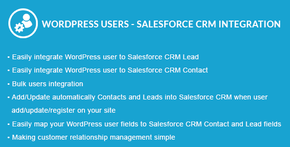 WordPress Users - Salesforce CRM Integration