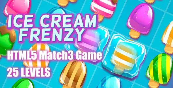 Ice Cream Frenzy HTML5 Game [ 25 levels ]