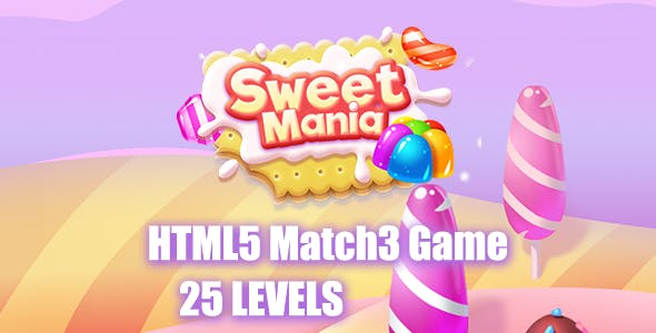 Sweet Mania HTML5 Game [ 25 levels ]