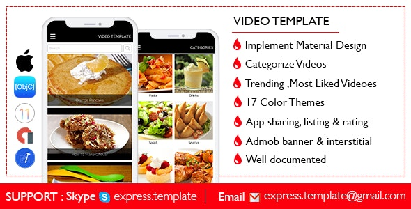 Multi-Purpose YouTube Video Template for iOS with PHP CMS Admin Panel - CodeCanyon Item for Sale