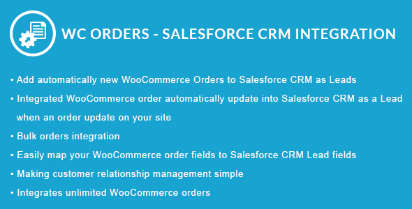WooCommerce Orders - Salesforce CRM Integration - CodeCanyon Item for Sale