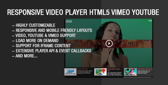Responsive Video Gallery HTML5 YouTube Vimeo        Nulled