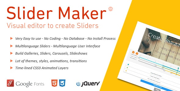 jQuery Slider Maker - CodeCanyon Item for Sale