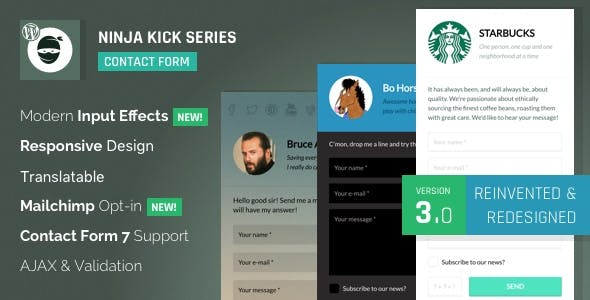 WordPress Contact Form Plugin — Ninja Kick