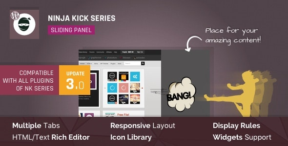 WordPress Off-Canvas Sliding Panel — Ninja Kick - CodeCanyon Item for Sale