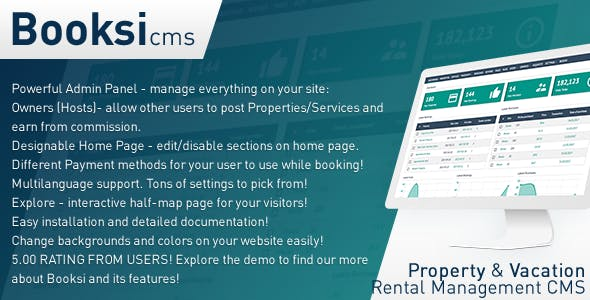 Booksi - Property & Vacation Rental Management CMS