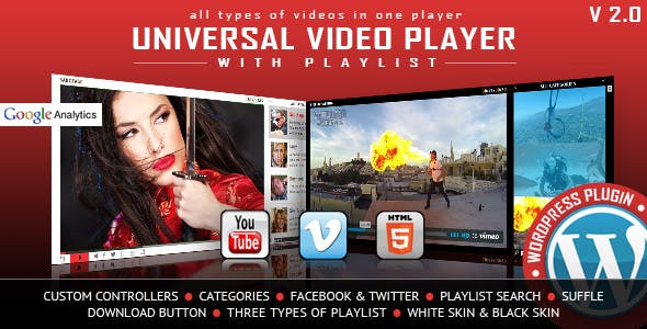 Universal Video Player - WordPress Plugin - CodeCanyon Item for Sale