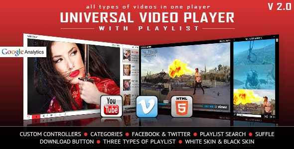 Universal Video Player - YouTube/Vimeo/Self-Hosted by