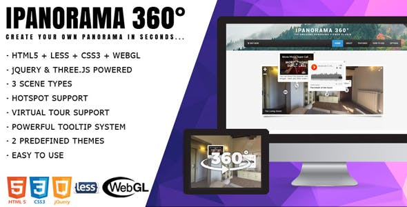 iPanorama 360° - jQuery Virtual Tour Builder