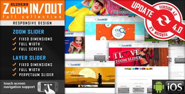 Jquery Slider Zoom In/Out Effect Fully Responsive        Nulled