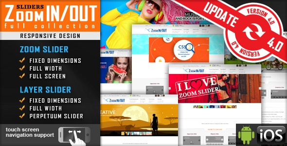 Jquery Slider Zoom In/Out Effect Fully Responsive - CodeCanyon Item for Sale