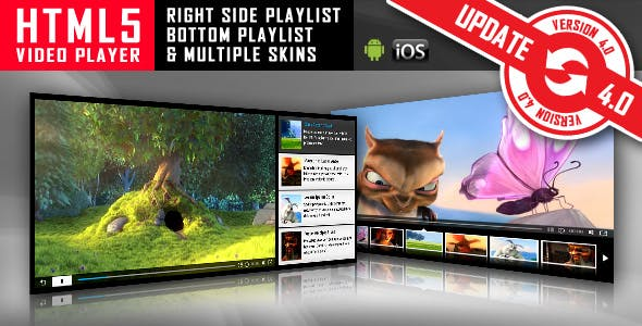 HTML5 Video Player with Playlist & Multiple Skins        Nulled