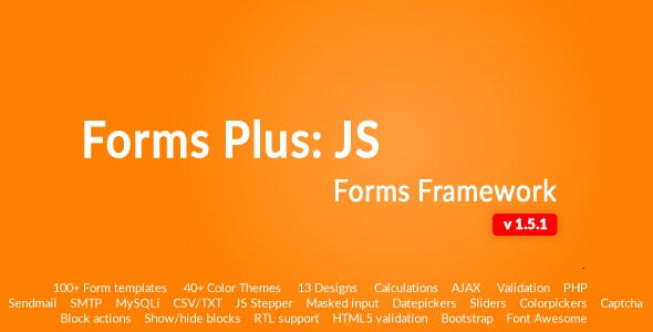 Form Framework with Validation & Calculation - Forms Plus: JS - CodeCanyon Item for Sale