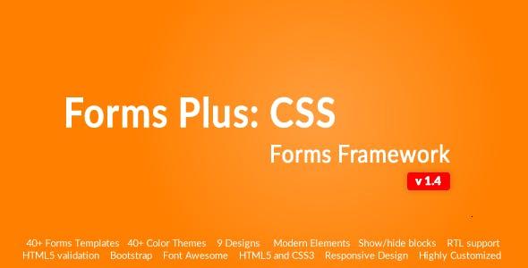Responsive Form Framework - Forms Plus: CSS
