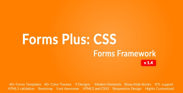 Responsive Form Framework - Forms Plus: CSS - CodeCanyon Item for Sale