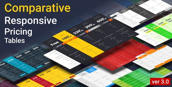 Comparative Responsive Pricing Tables