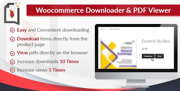 WooCommerce Downloader and PDF Viewer by EduGorilla | CodeCanyon