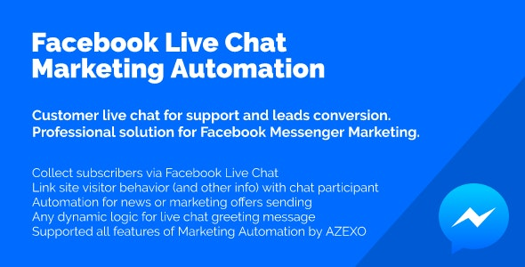 Facebook Live Chat Marketing Automation by marketing