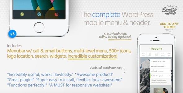 Touchy - WordPress Mobile Menu Plugin        Nulled