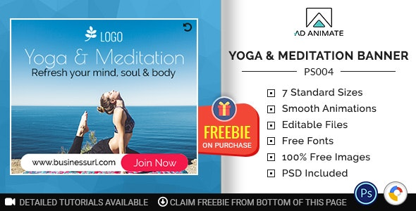 Professional Services Yoga Meditation Banner Ps004 By Adanimate