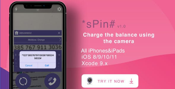 [Realtime Camera] *sPIN# - Charge the balance using the camera iOS App