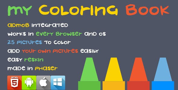 My Coloring Book - HTML5 Game - Phaser