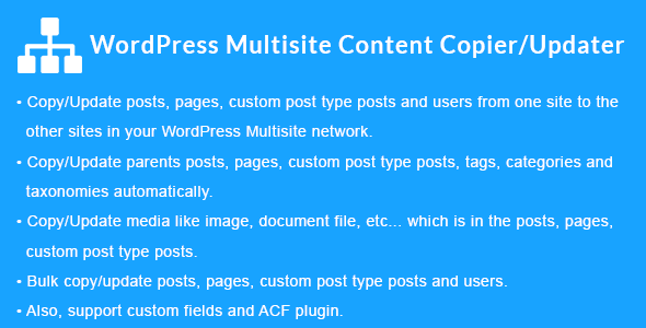 WordPress Multisite Content Copier/Updater