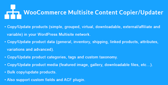 WooCommerce Multisite Content Copier/Updater