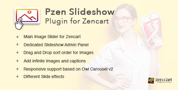 Pzen Slideshow - Responsive Image Slideshow plugin for Zen cart
