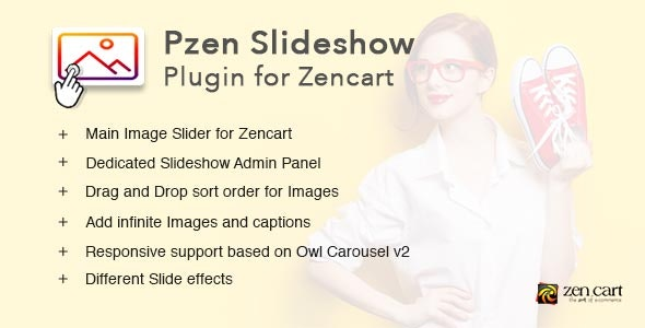 Pzen Slideshow - Responsive Image Slideshow plugin for Zen cart - CodeCanyon Item for Sale