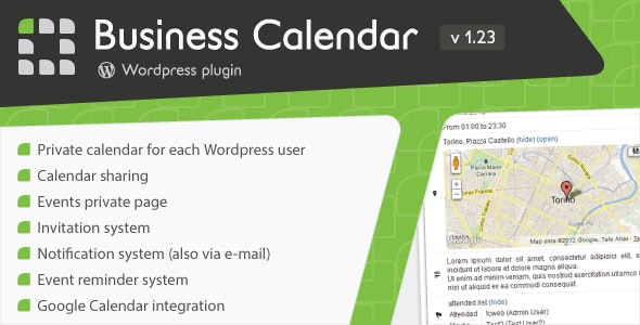 Business Calendar - Wordpress Internal Calendar - CodeCanyon Item for Sale